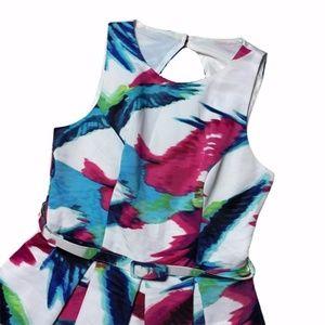 Eliza J Retro Style Sleeveless Knee Length Dress